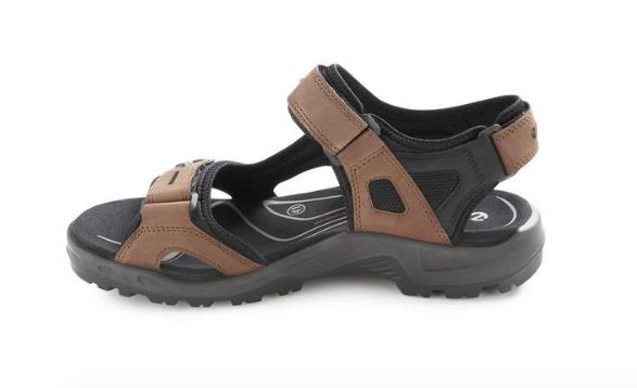ECCO YUCATAN SANDALS BROWN INSIDE