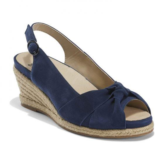 EARTH- THARA BERUMDA WEDGE NAVY