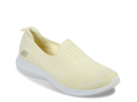 SKECHERS ULTRA FLEX HARMONIOUS YELLOW SIDE