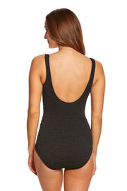 PENBROOKE - KRINKLE MOCK SURPLICE ONE PIECE