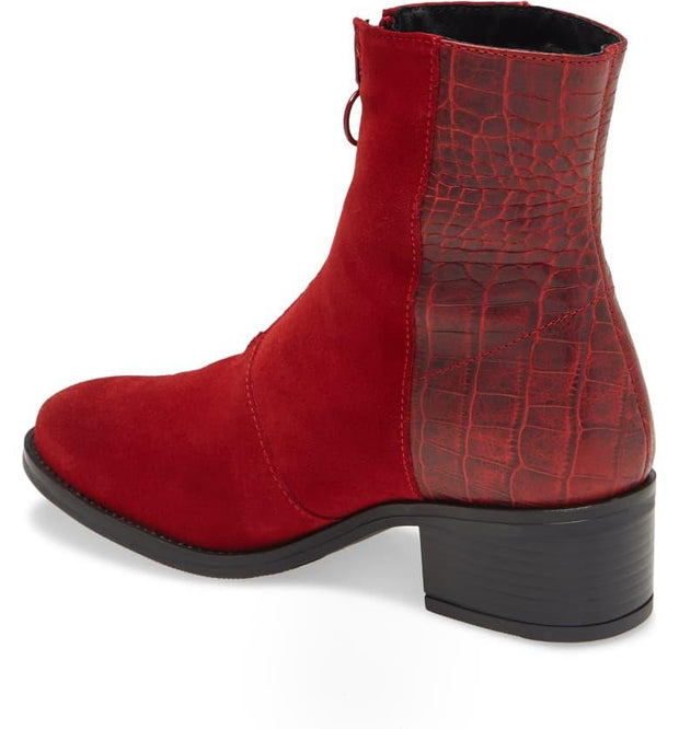 BOS. & CO. Jordon Bootie red back