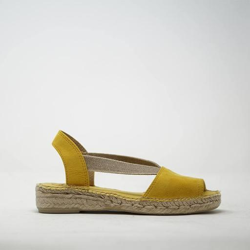 TONI PONS- ETNA FLAT LEATHER ESPADRILLE STEEL TOP