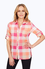FOXCROFT - Tamara Easy-Care Linen Shirt