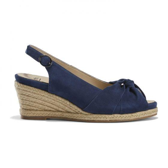 EARTH- THARA BERUMDA WEDGE NAVY SIDE