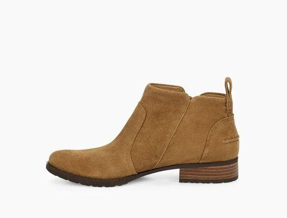 UGG- AUREO II BOOTIE BROWN INSIDE