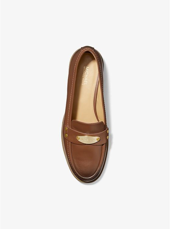 MICHAEL KORS- Finley Burnished Leather Loafer