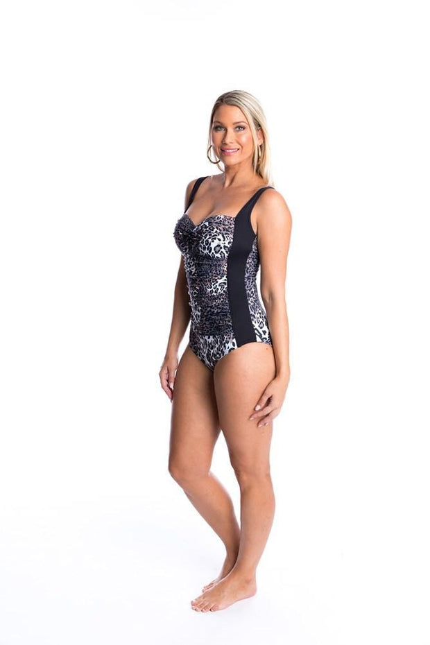 TOGS- Safari Ruched one piece