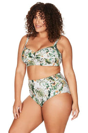 ARTESANDS- VIVA LA EDEN GREEN BOTTICELLI HIGH WAIST SWIM PANT