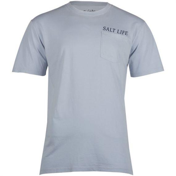 SALT LIFE- Fish Trippin' Salt Wash Fishing Pocket Tee