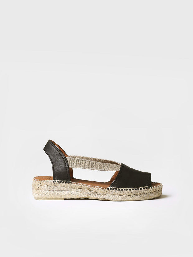 TONI PONS- ETNA FLAT LEATHER ESPADRILLE TOP