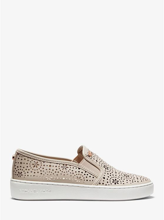 MICHAEL KORS- KANE PERFORATED LEATHER SLIP-ON SNEAKER SIDE