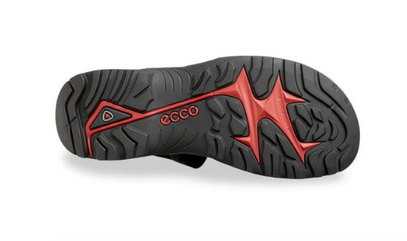 ECCO YUCATAN SANDALS BLACK BOTTOM