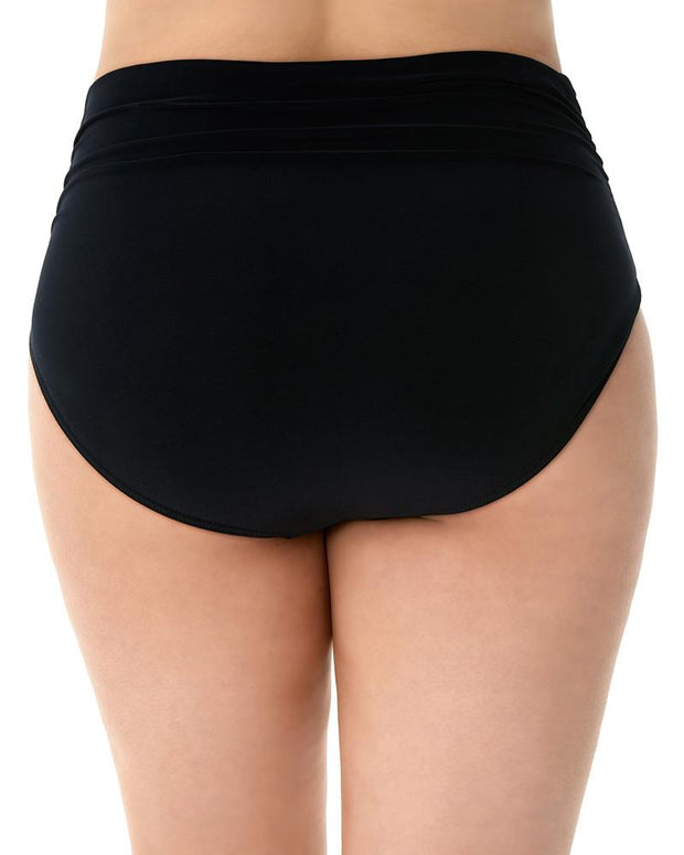 MAGICSUIT WOMEN'S STYLES JERSEY BRIEF WITH SHIRRING BLACK BACK