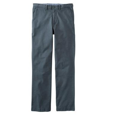 L.L.BEAN LAKEWASHED STRETCH KAHKIS BLUE