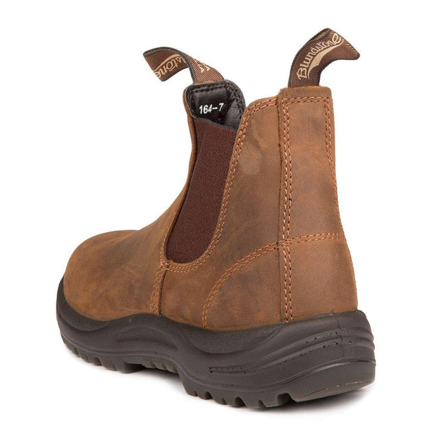 BLUNDSTONE- MEN'S 164- WORK & SAFETY BOOT CRAZY HORSE BROWN BACK