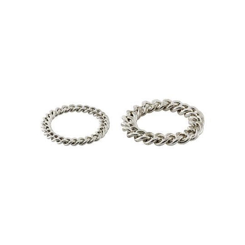 PILGRIM RING CHAIN SET SILVER