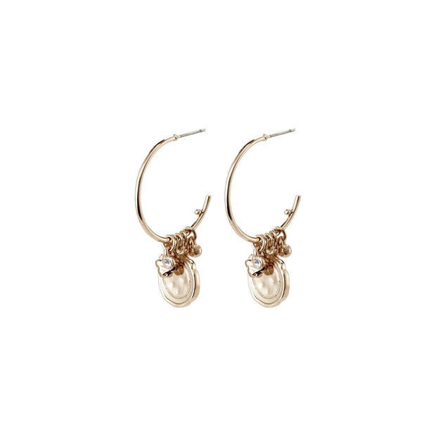 PILGRIM AIR CRYSTAL EARRINGS GOLD ROSE GOLD