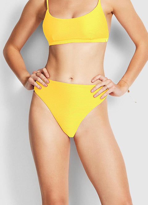 SEAFOLLY - ESSENTIALS HIGH RISE BOTTOM