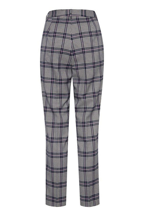 ICHI ADDA PANTS PLAID BACK