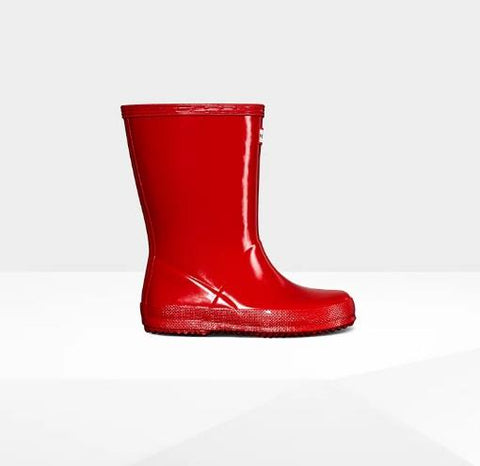 HUNTER ORIGINAL FIRST CLASSIC GLOSS RAINBOOT RED SIDE