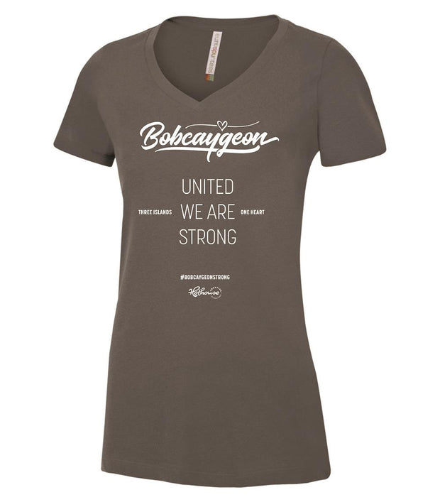 BOBCAYGEON STRONG V-NECK SHIRT GREY
