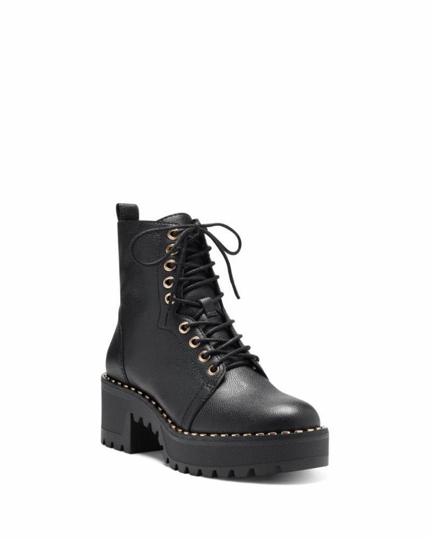 VINCE CAMUTO- Mecale Leather Combat Booties
