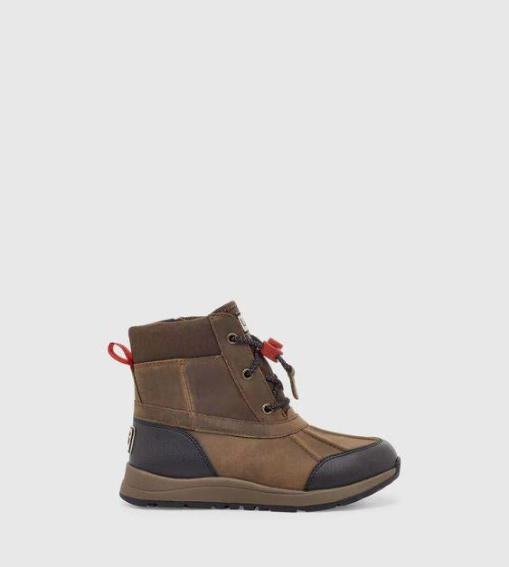 UGG- KIDS TURLOCK LEATHER WEATHER BOOT