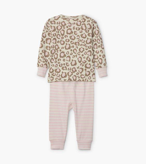 HATLEY- Painted Leopard Organic Cotton Baby Pajama Set