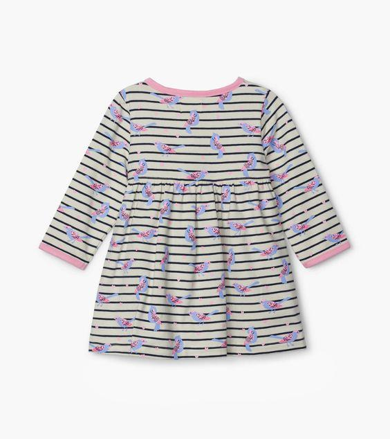 HATLEY- Sweet Birdies Baby Crossover Dress