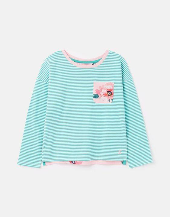 JOULES- BLISS DROP SHOULDER HOTCHPOTCH TOP