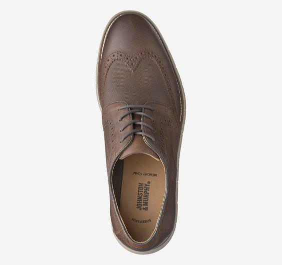 JOHNSTON & MURPHY- HOLDEN EMBOSSED WINGTIP
