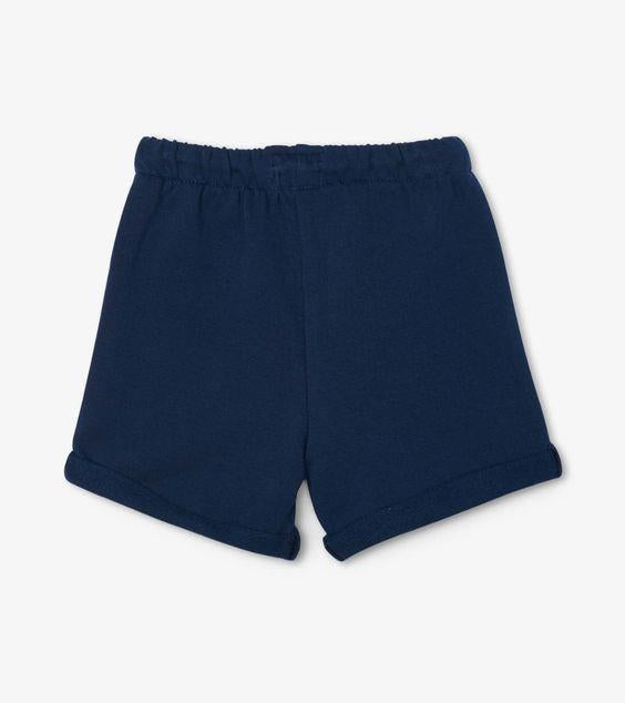 HATLEY- Navy French Terry Baby Shorts