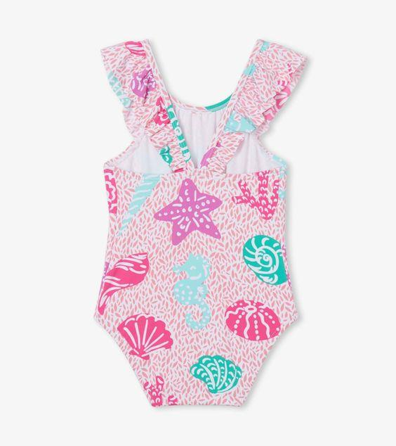 HATLEY- KIDS Abstract Sea Life Baby Ruffle Swimsuit