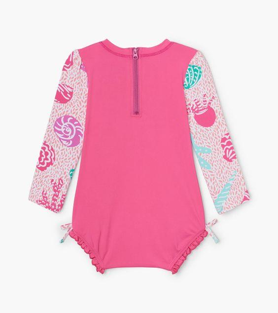 HATLEY- Abstract Sea Life Baby Rashguard Swimsuit