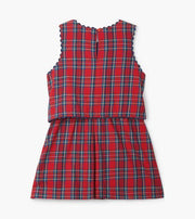 HATLEY- Holiday Plaid Layered Dress