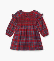 HATLEY- Holiday Plaid Baby Smocked Party Dress