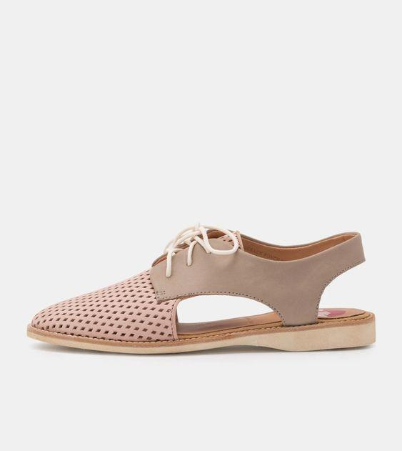 ROLLIE- Slingback Punch Blush Stone Shoe