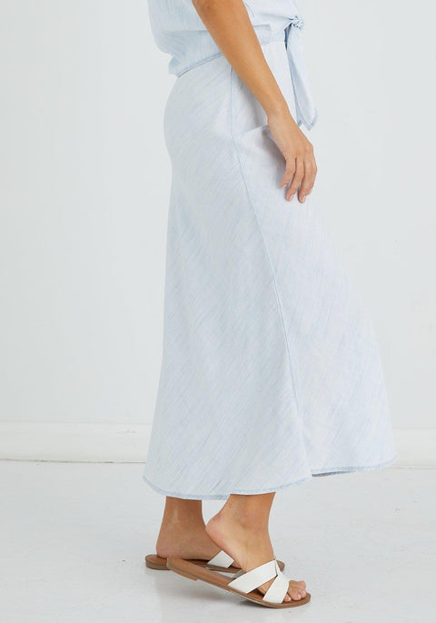BELLA DAHL- BIAS MIDI SKIRT