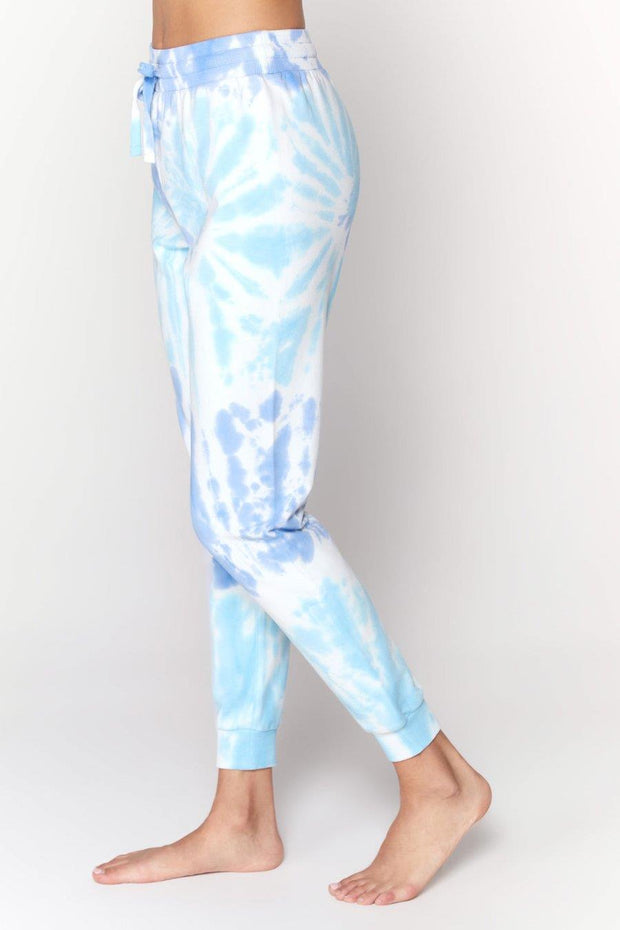 SPIRITUAL GANGSTER TIE DYE MUSE PANTS SIDE