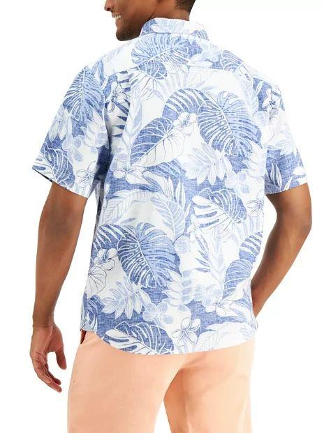 TOMMY BAHAMA True Blue Fronds Shirt BACK