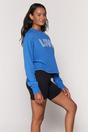 SPIRITUAL GANGSTER- Love Mazzy Crop Sweatshirt