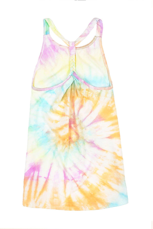 LIMEAPPLE- NIKITA - TIE DYE RAINBOW SWIM COVER UP DRESS