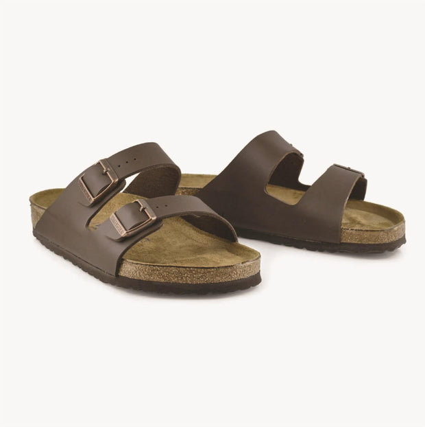 BIRKENSTOCK- ARIZONA SOFT BED DARK BROWN