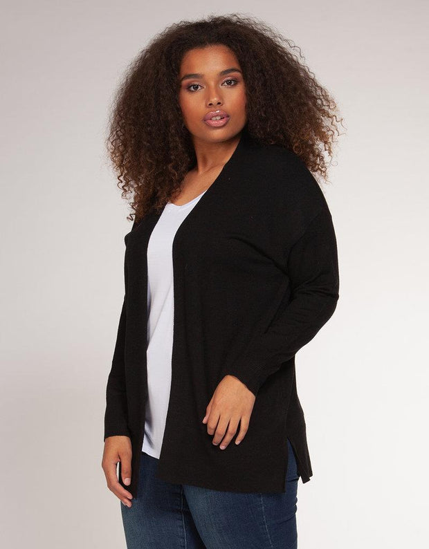 DEX PLUS - BASIC OPEN CARDIGAN