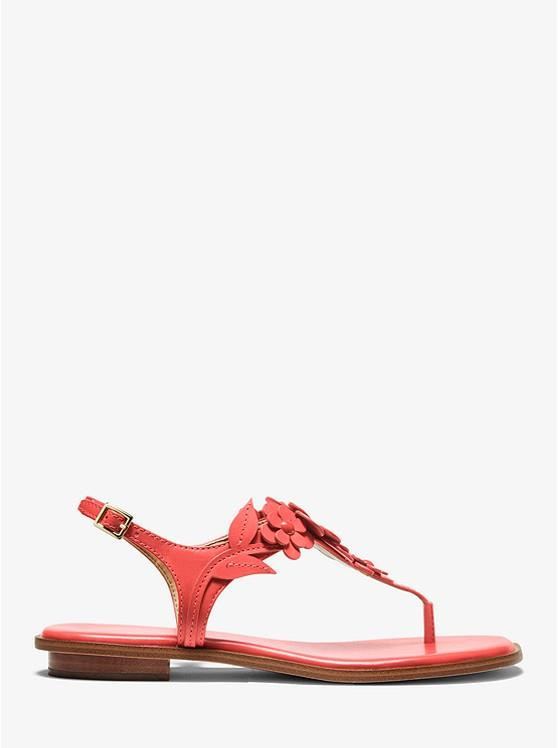 MICHAEL KORS- FLORA APPLIQUE LEATHER SANDAL SIDE