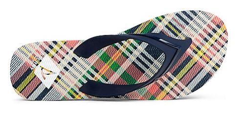 SPERRY - WOMEN'S WHARF PLAID FLIP FLOP