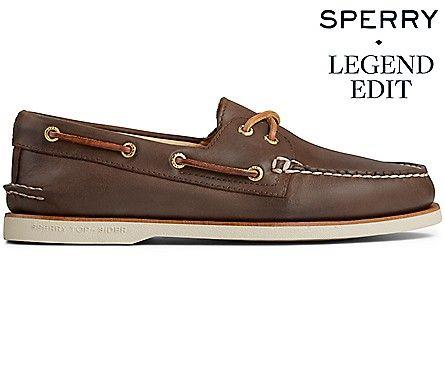 SPERRY- GOLD CUP AUTHENTIC ORIGINAL 2 EYE BOAT SHOE SIDE