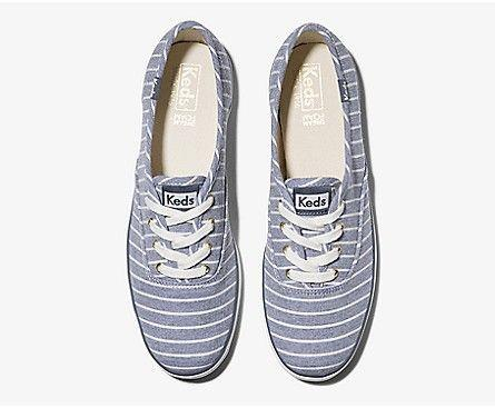 KEDS- CHAMPION CHAMBRAY BRETON STRIPE TOP