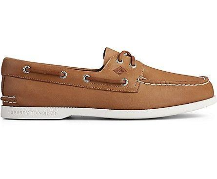 SPERRY- MEN`S AUTHENTIC ORIGINAL PLUSHWAVE BOAT SHOE SIDE