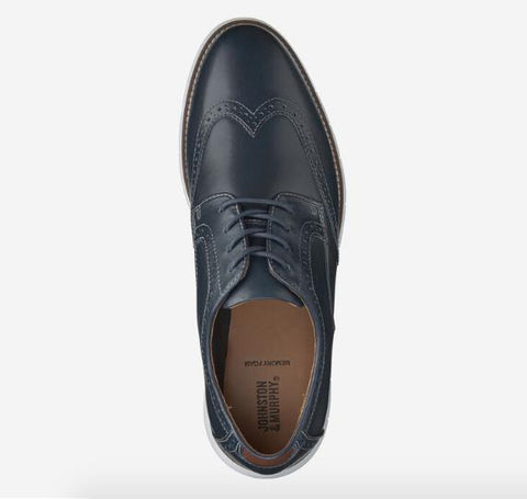 JOHNSTON & MURPHY HOLDEN WINGTIP NAVY TOP
